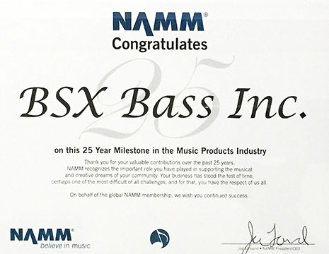 BSX 25 year milestone award for products and service